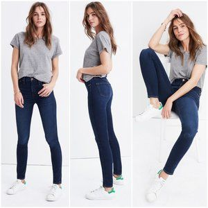 """Madewell 10"""" high rise skinny jeans Hayes wash 25"""